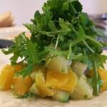 Здравословна плодова салата с авокадо, грейпфурт и портокал