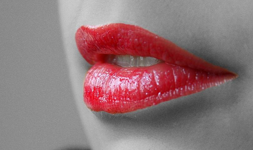 устни с червило