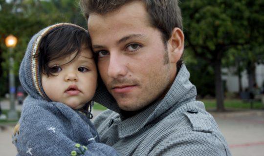 баща с дете