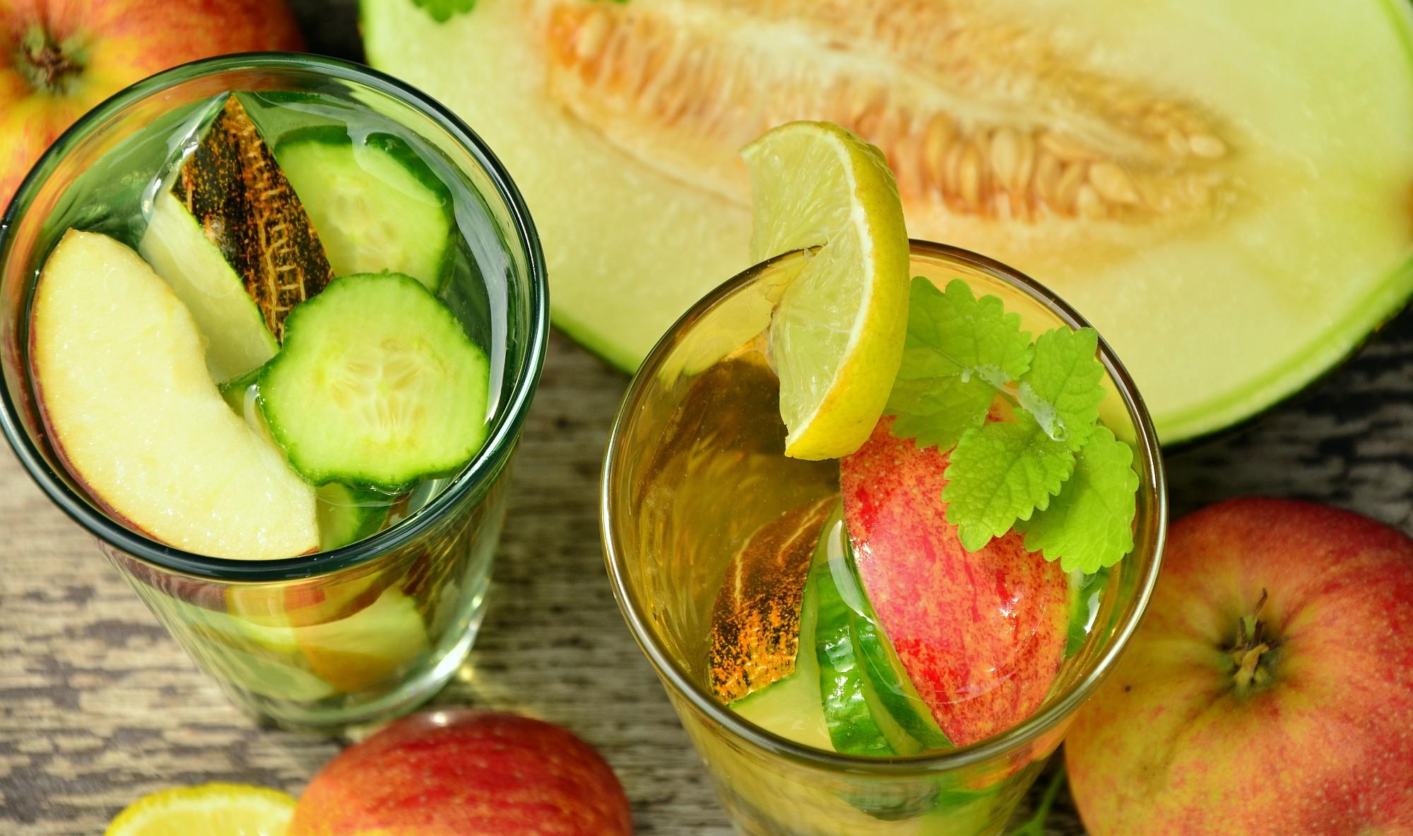 лимон/ябълка/краставица/пъпеш/мента