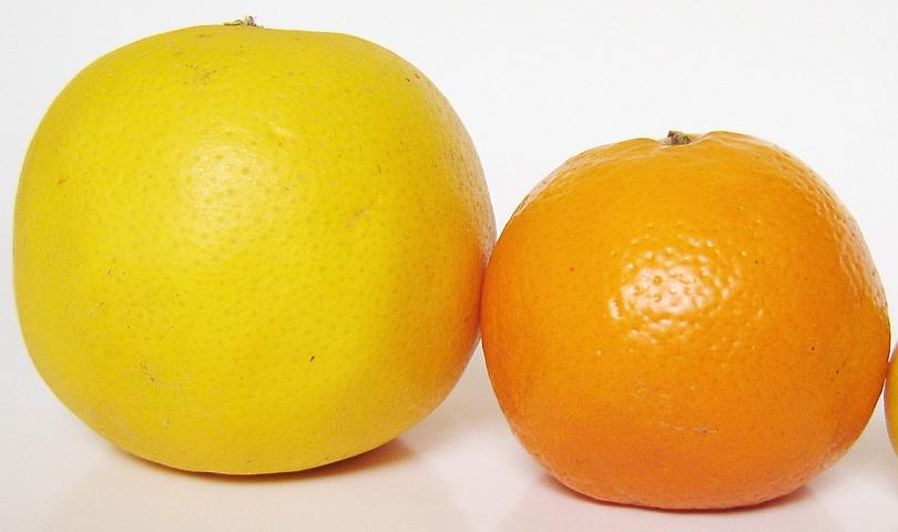 портокал и грайпфрут
