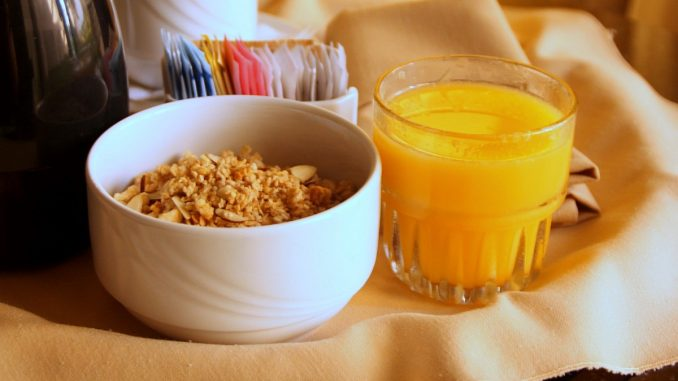 овес и портокалов сок