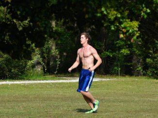 бегач в парка