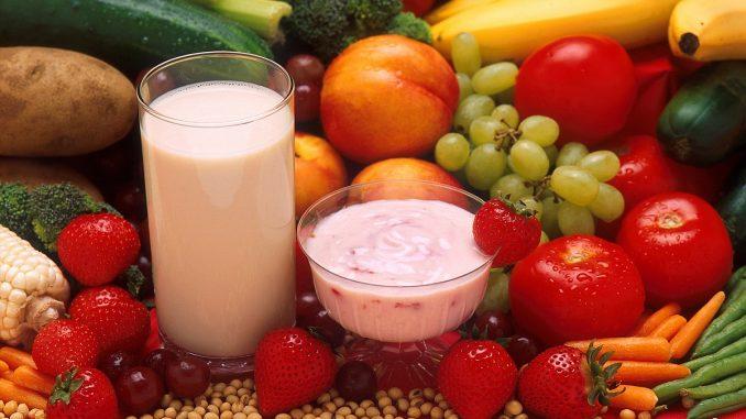 мляко, плод и зеленчук