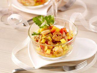 салата с манго и скариди
