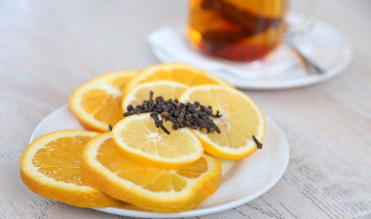 лимон и чай