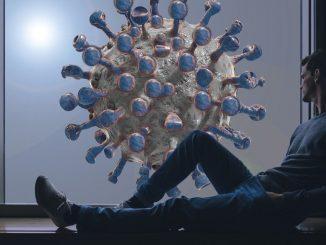 мъж и коронавирус